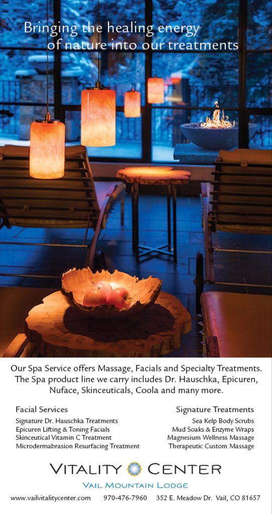 Ad I created for the Vail Vitality Center